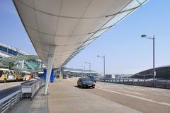 Yttersida av Incheon den internationella flygplatsen, Seoul, Sydkorea Arkivfoto