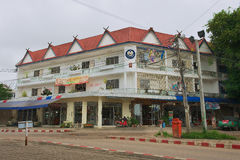 Yttersida av kommunerna som bygger i Mae Sot, Thailand Royaltyfri Foto
