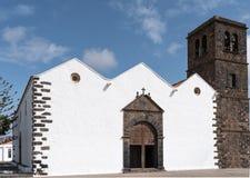 Yttersida av kyrkan i La Oliva på Fuerteventura Royaltyfri Foto