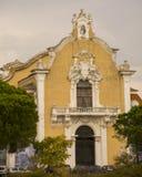 Yttersida av kyrkan i Lissabon Fotografering för Bildbyråer