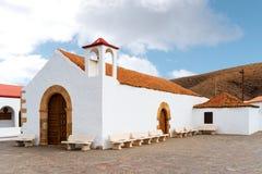 Yttersida av kyrkan i Tesejerague Ermita de San Jose Arkivbild