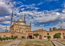 Yttersida av moskén av Muhammad Ali arkivbilder