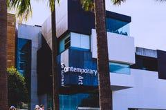 Yttersida av museet av samtida konst i Sydney CBD fotografering för bildbyråer