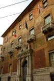 Yttersida av Palazzoen Doria - Spinola - Genoa Landmarks royaltyfri fotografi