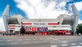Yttersida av Philips Stadion Arkivfoton