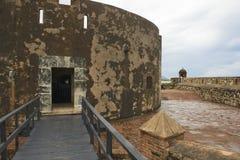 Yttersida av Sanen Felipe Fort i Puerto Plata, Dominikanska republiken Royaltyfri Bild