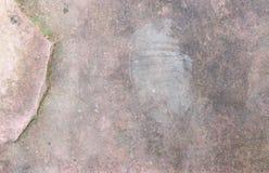 Yttersida av stenen och fotspåren Royaltyfria Bilder