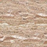 Yttersida av travertinestenen i närbild abstrakt textur Seaml Arkivfoton