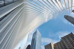 Yttersida av WTC-trans.navet Arkivfoto