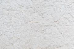 Yttersida avslutas med dekorativ murbruk för vit lättnad som en bakgrund Royaltyfria Bilder