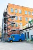 Yttersida en av paviljongen för Flacon designfabrik i Moskva, Ryssland Arkivfoton