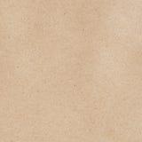 Yttersida för ark för brunt papper för textur Arkivbilder