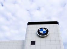 Yttersida för BMW bilåterförsäljare Royaltyfri Bild