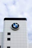 Yttersida för BMW bilåterförsäljare Arkivfoton