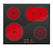 Yttersida för elektrisk induktiv ugnvektorillustration Royaltyfri Bild