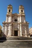 Yttersida för kyrka för St Anne ` s i Cagliari, Sardinia Royaltyfri Bild