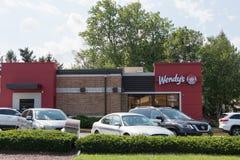 Yttersida för restaurang för snabbmat för Wendy ` s royaltyfri bild