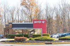Yttersida för restaurang för snabbmat för Wendy ` s fotografering för bildbyråer