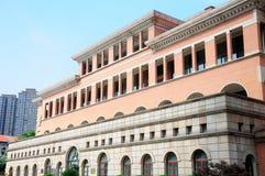 Yttersida för Shanghai stångmuseum Arkivbilder