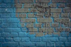 Yttersida f?r tegelstenv?gg i marinbl? signal Abstrakt arkitektonisk bakgrund och textur f?r design royaltyfri fotografi