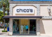 Yttersida och logo för lager för kläder för Chico ` s Royaltyfri Bild