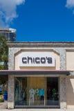 Yttersida och logo för lager för kläder för Chico ` s Fotografering för Bildbyråer