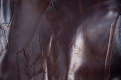 Yttersida och söm av läder Royaltyfri Fotografi