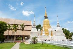 Yttersida sköt av Wat Suan Dok, Chiang Mai, Thailand Royaltyfria Foton