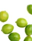 Yttersida som täckas med åtskilliga mogna limefrukter Royaltyfri Foto