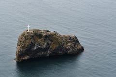 Yttersida vaggar i form av en liten ö royaltyfri foto