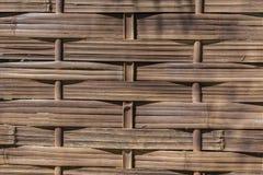 Yttersidabakgrund av bambuväv Royaltyfria Foton