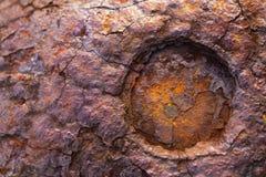 Yttersidan av den brutna metallen rostar Royaltyfri Foto
