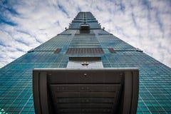 Yttersidan av Taipei 101, i Xinyi, Taipei, Taiwan Royaltyfria Bilder