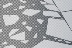 Yttersidatexturen knäckas på is som isoleras på en genomskinlig bakgrund också vektor för coreldrawillustration broken exponering Royaltyfri Foto