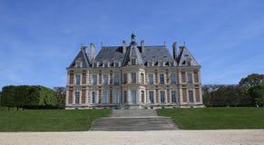 Yttersidor av chateauen av Sceaux, Sceaux, Frankrike Royaltyfri Fotografi