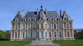 Yttersidor av chateauen av Sceaux, Sceaux, Frankrike Fotografering för Bildbyråer