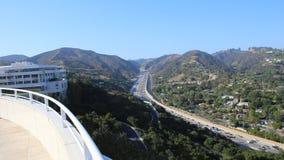 Yttersidor av den Getty mitten, Los Angeles, Kalifornien Arkivbilder