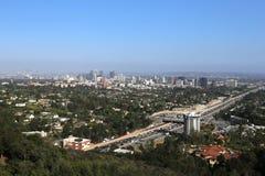 Yttersidor av den Getty mitten, Los Angeles, Kalifornien Arkivfoton