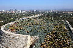 Yttersidor av den Getty mitten, Los Angeles, Kalifornien Fotografering för Bildbyråer