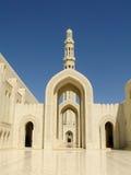 ytterstorslagen sultan för minaretmoskéqaboos Arkivbilder