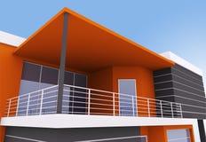 Yttre av modernt hus Arkivbilder