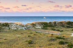 Yttre banker North Carolina för Oceanfrontutsikt Arkivfoton
