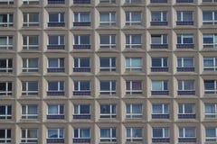 Yttre byggnadsfasad, bostads- byggnad Fotografering för Bildbyråer