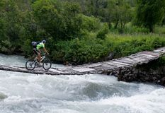 yttre cyklistbro Royaltyfri Fotografi