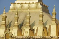 Yttre detalj av Phaen som Luang stupa i Vientiane, Laos Royaltyfria Bilder