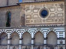 Yttre detalj, Santa Maria Novella Basilica, Florence Arkivfoto