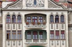 Yttre detalj Timisoara Rumänien för byggnad royaltyfria bilder