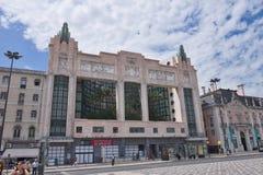 Yttre fasad av Eden Teatro i Lissabon arkivbild