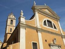 Yttre fasaddomkyrka av Ajaccio royaltyfri foto