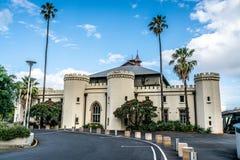Yttre främre sikt av stallen för gamlaSydney regering nu en conservatorium av musik en arvbyggnad i Sydney Australia royaltyfria bilder